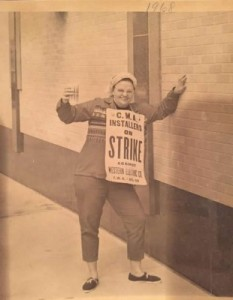 Grandma on the picket line, fighting for workers' rights. I'm so proud of the work she did and forever grateful for helping me my whole life.